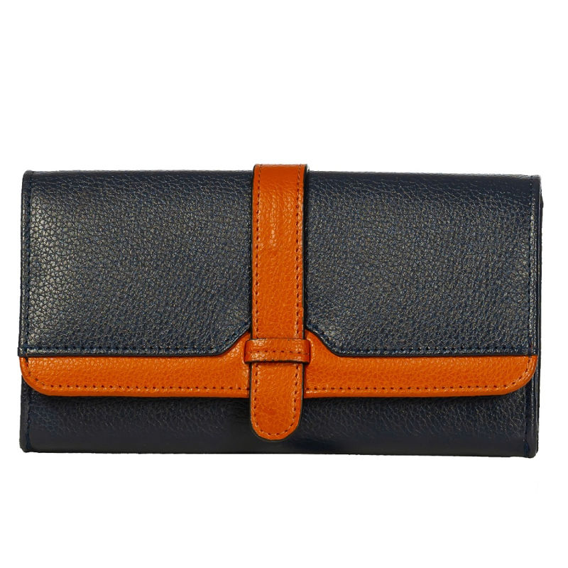Blue and Tan Parker wallet