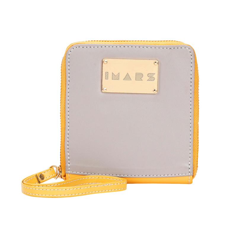 IMARS ESSENTIAL ZIPPED WRISTLET FOR WOMEN(YELLOW GREY)